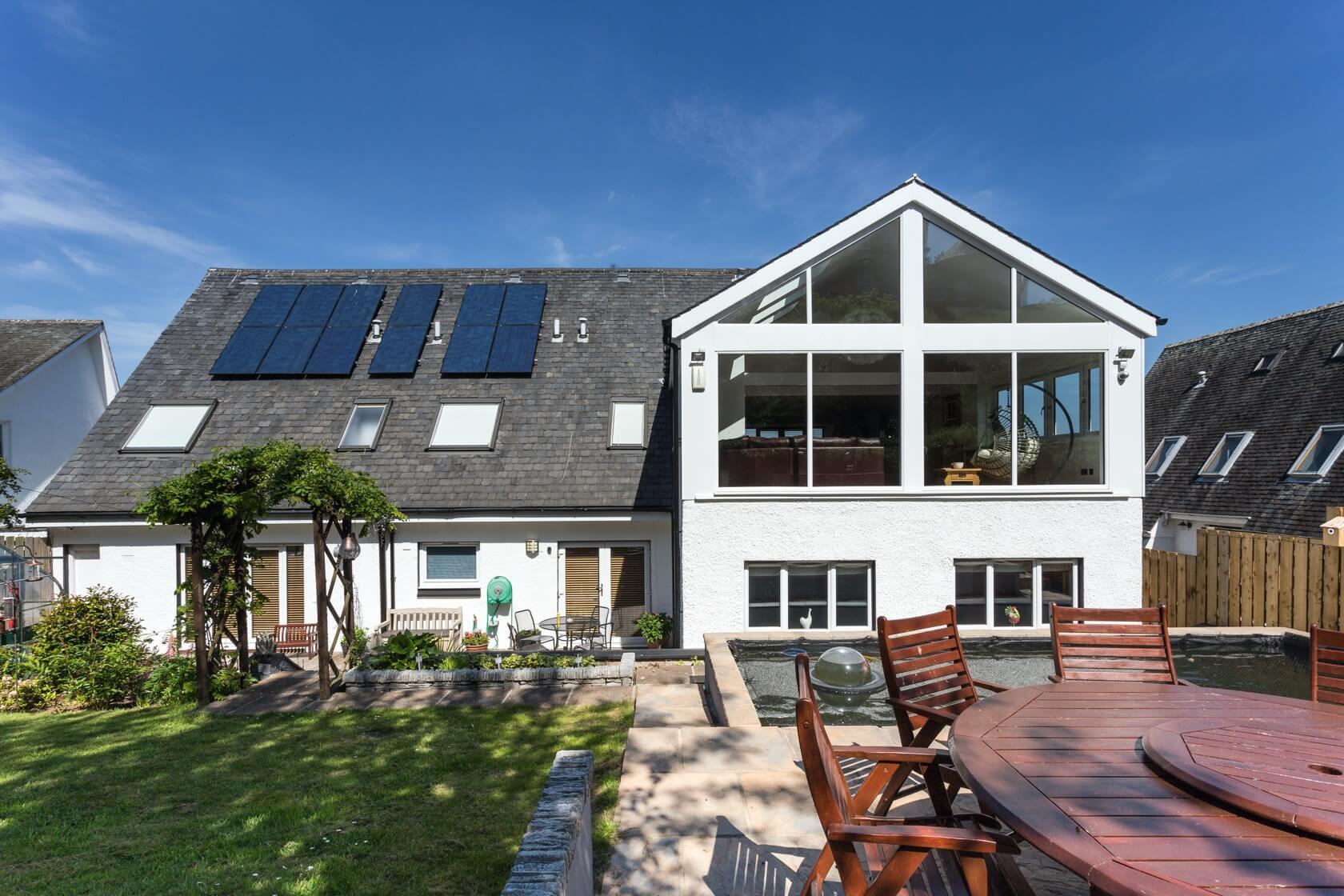 Sunroom extension on flat roof at Back Road Dunbar 2