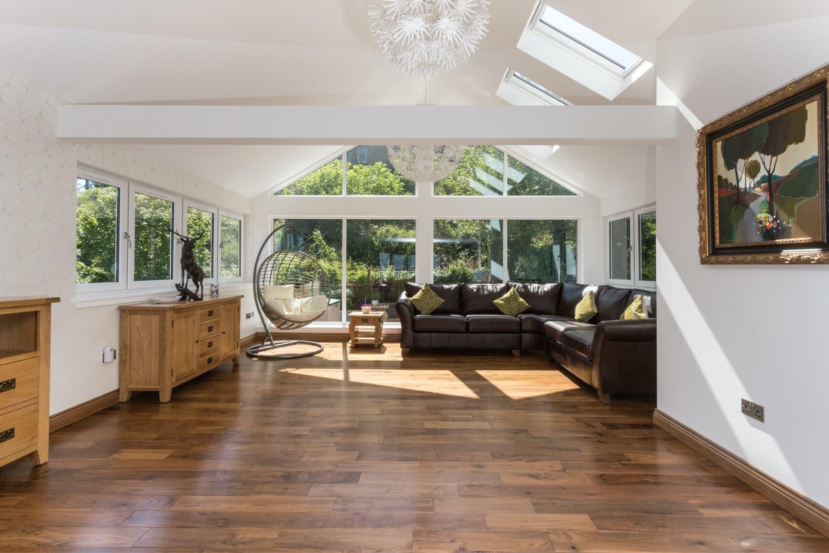 Sunroom extension on flat roof at Back Road Dunbar 6