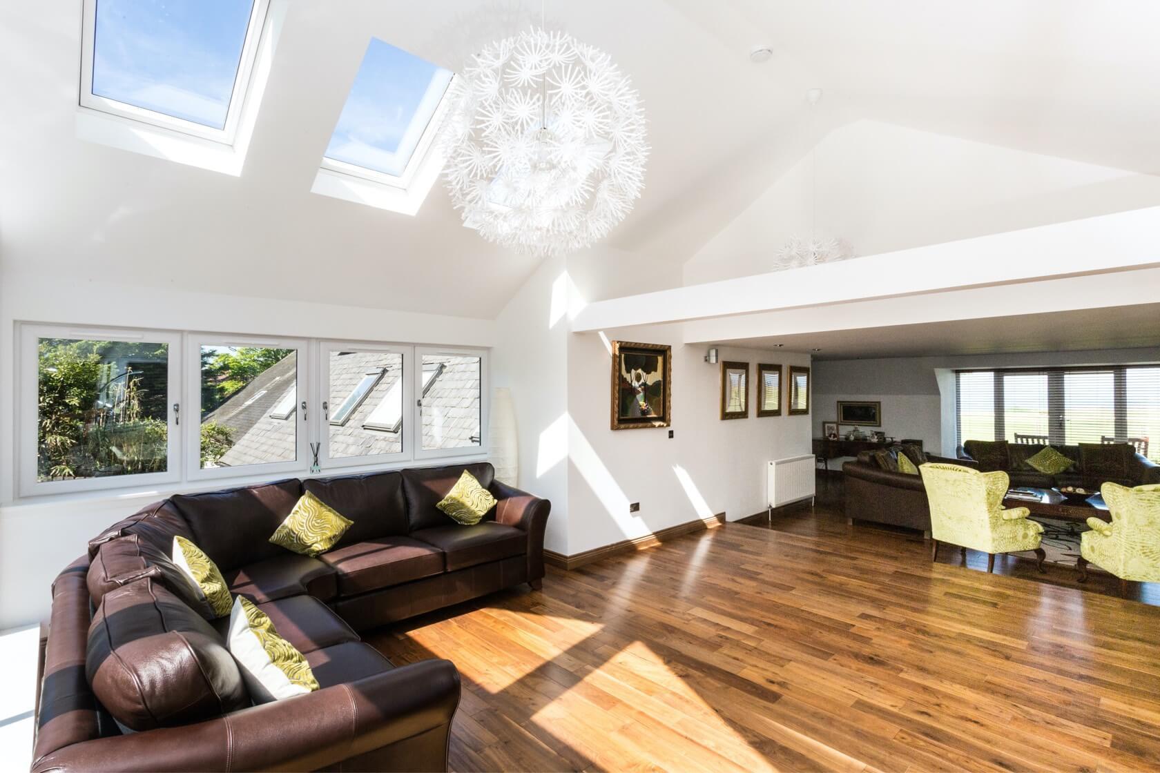 Sunroom extension on flat roof at Back Road Dunbar 5